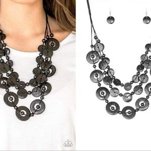 Wooden Disc Necklace Set - Fashion Accessories